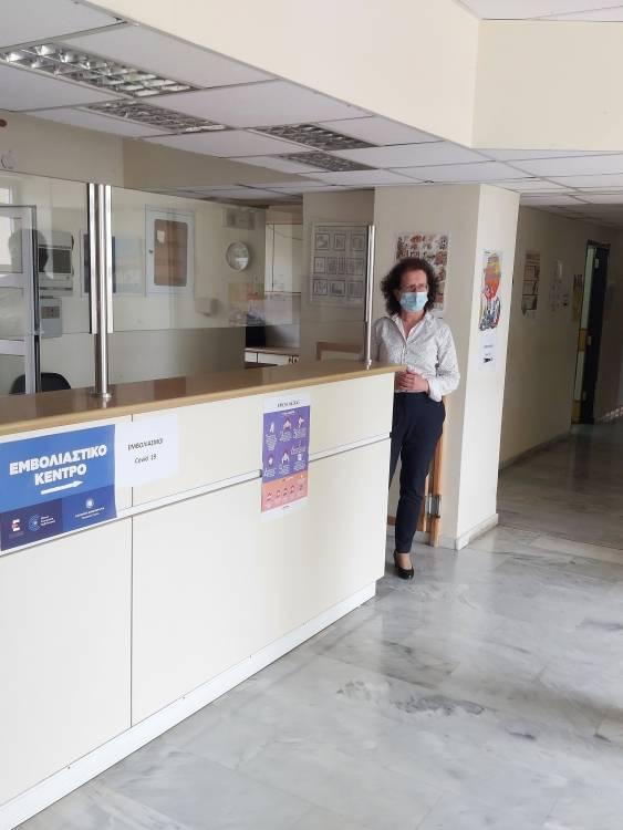 ΔΤ 07/05/21 Μίλτου Χρυσομάλλη - Χρυσομάλλης στο Κ.Υ. Αγίου Νικολάου: Πρέπει να λάβουμε ειδική μέριμνα για τον εμβολιασμό των ηλικιωμένων στα απομακρυσμένα χωριά