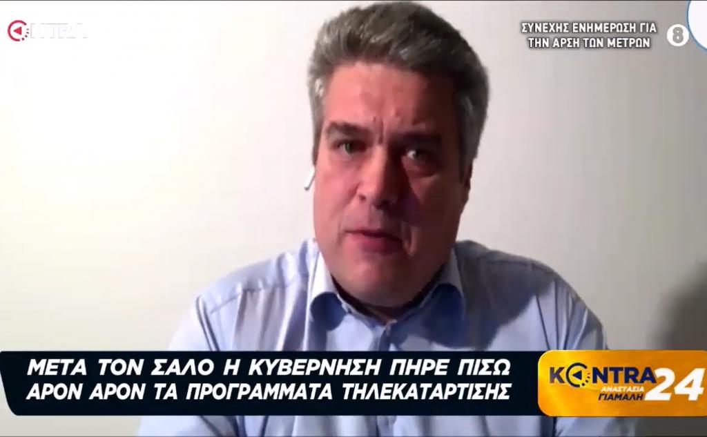 Μίλτος Χρυσομάλλης στην εκπομπή KONTRA24 με την Αναστασία Γιάμαλη 22/04/2020