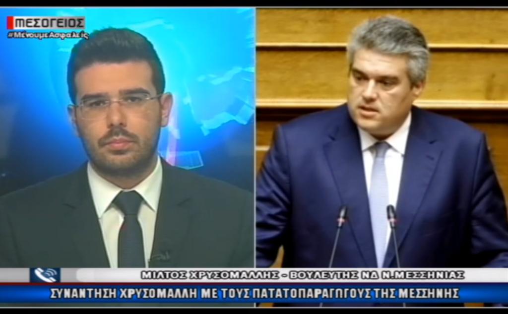 Μίλτος Χρυσομάλλης στο Κεντρικό Δελτίο Ειδήσεων στο Κανάλι Μεσόγειος 25/5/2020