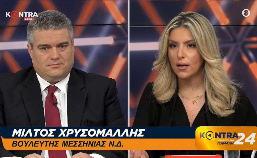 Μίλτος Χρυσομάλλης στην εκπομπή KONTRA24 με την Αναστασία Γιάμαλη 29/01/2020