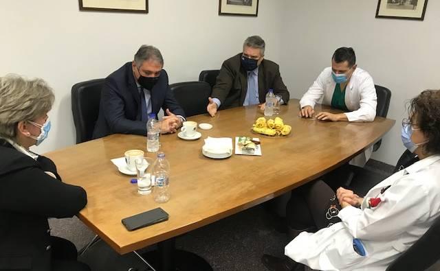 ΔΤ 08/01/2021 Μίλτου Χρυσομάλλη - Επισκέψεις με τον διοικητή της 6ης ΥΠΕ κ. Γ. Καρβέλη στο πλαίσιο των εμβολιασμών που ξεκίνησαν στη Μεσσηνία