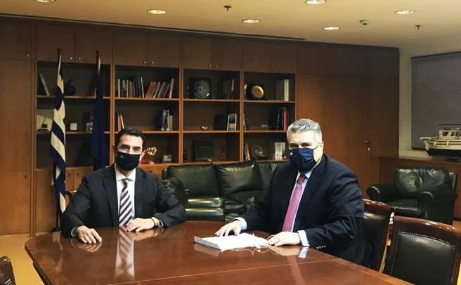 ΔΤ 29/01/2021 Μίλτου Χρυσομάλλη - Συνάντηση με τον Υπουργό Περιβάλλοντος και Ενέργειας κ. Κ. Σκρέκα